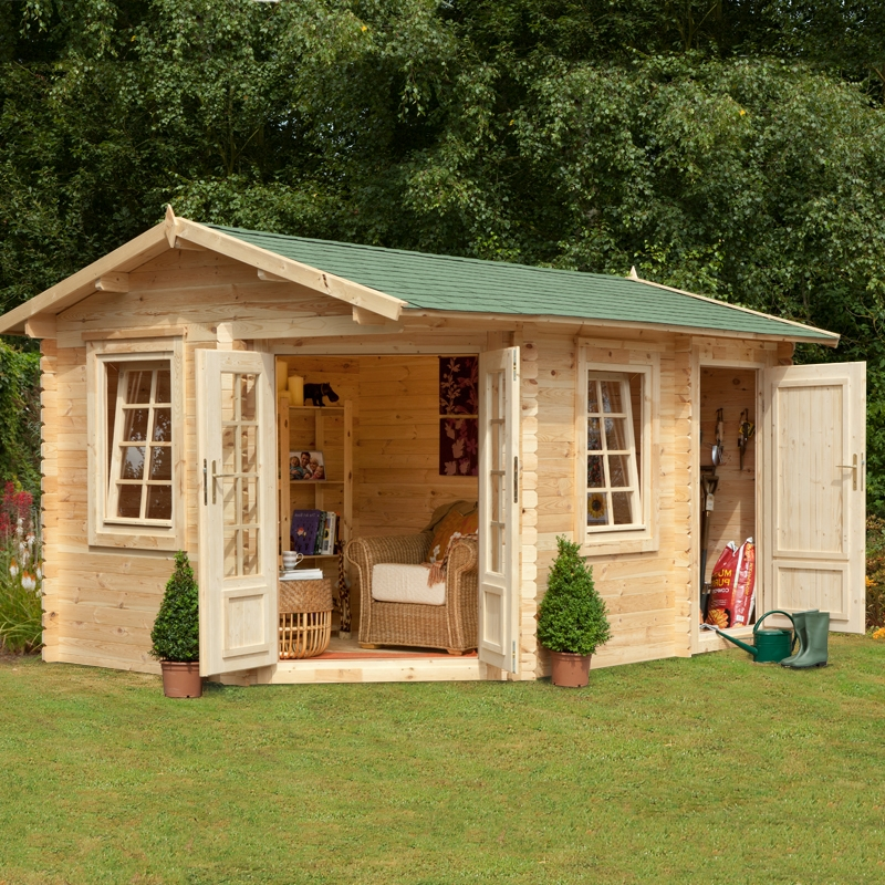 The different uses of log cabinsemergent village for Garden log cabins uk