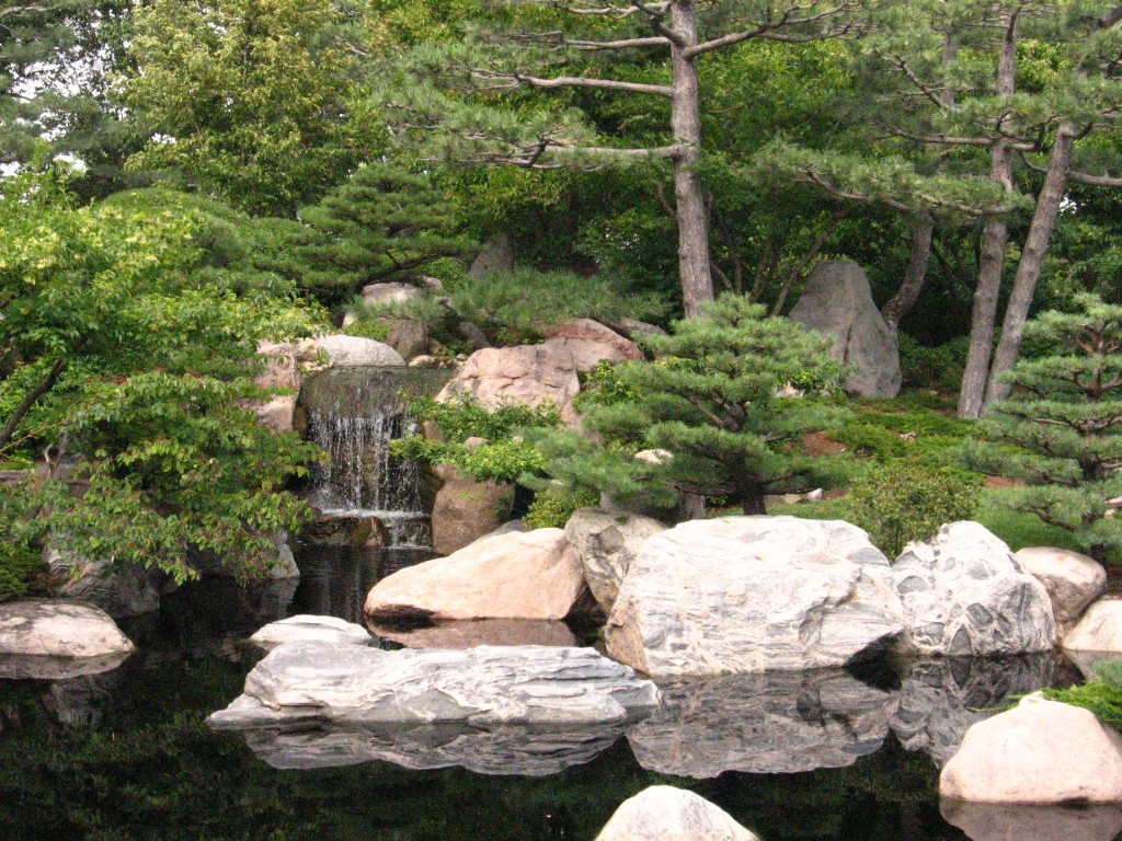 Como Conservatory Japanese garden waterfall 1024x768 Transform Your Backyard Into A Peaceful Oasis