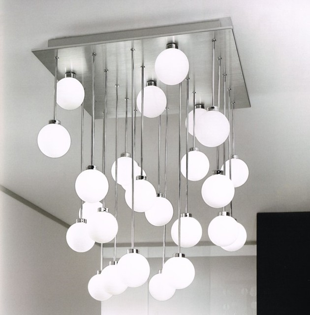 What do your ceiling lights say about you emergent village for Cool light fixtures modern