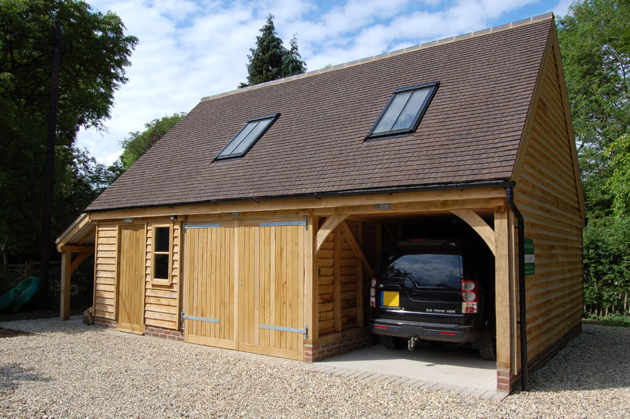 A timber garage could improve your home garden and